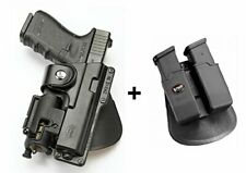 Fobus tactical Holster + Double magazine pouch for Glock 17, s&w m&p 9mm .40 .45