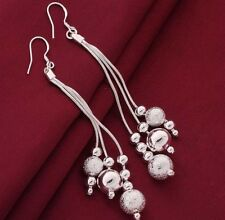 Stunning 925 Sterling Silver Drop Dangle Bead Earrings New Fashion Women Jewelry