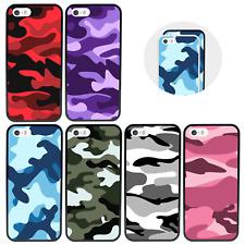 Estuche/Cubierta Protectora para iPhone 5 SE 6 7 8 XS 11 PRO PLUS X MAX Xr/Camuflaje