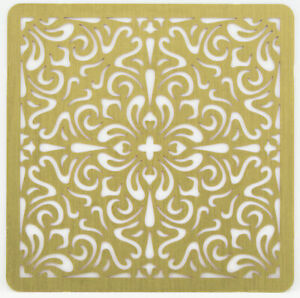 Solid Brass Stencil Template For Embossing & Stenciling Decorative Design 22235