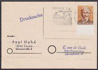 Federazione Mi N.297 Ef Drucksache, Timbrato A Essen 22.10.1960 Con Ws