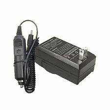 AC Wall + DC Car Battery Charger Kit for JVC BN-VG121U Everio HM300BU GZ-HD500BU