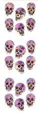 Sandylion Vintage Prismatic Halloween Skulls Stickers 3 Squares RETIRED