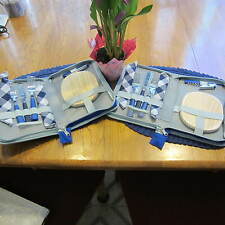 2 SETS OF WINE AND CHEESE PICNIC SETS-GREAT FOR TRIP TO TEMECULA WINE COUNTRY