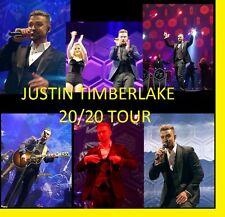 JUSTIN TIMBERLAKE 20/20 TOUR 1400 CONCERT PHOTOS CD LIVE TOUR SET  1 & 2