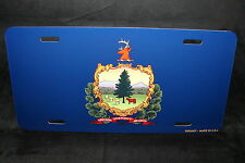 VERMONT STATE FLAG METAL LICENSE PLATE TAG FOR CARS