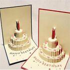 New Birthday Theme Handmade Birthday Greetings Cards Kirigami 3D Pop up Cards