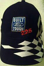 Built Ford Tough Hat Ball Cap Kentucky Speed way checker flag black Strapback