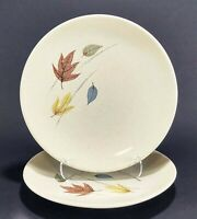 "2 Franciscan Gladding McBean Autumn Leaves 6 1/2"" Dessert Plates"