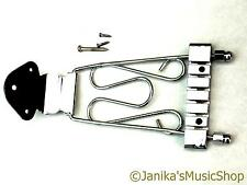 Chrome TRAPEZE SEMI-ACOUSTIC JAZZ GUITAR Tail Piece 6 stringa Anchor TAILPIECE