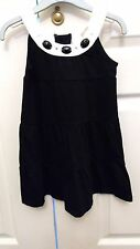 Girls black and white spring party occasion pinafore dress 5 years