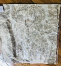 Pottery Barn Francesca Pillow Cover Neutral 24 sq Floral Embroidered New