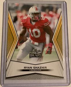 2014 Leaf Draft Gold Ryan Shazier #50 Rookie Ohio St Pittsburgh Steelers Rookie