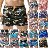 Mens Swimwear Boxer Briefs Beach Shorts Holiday Sports Swim Trunks Bottoms Pants