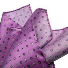 Pochette da taschino uomo glicine lilla rosa fazzolettino di seta prod italiano