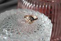 Anello Rotondo Regolabile Perle Argento Oro Rosa Regalo Da Natale Nuovo Ring