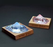 Fuji Paper Weight barium crystal glass GSI consent to change color made in Japan
