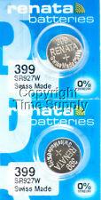 2 PC Renata 399 Watch Batteries SR927W FREE SHIP 0% MERCURY