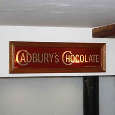 Cadbury Chocolate Mirror Vintage Style Advertising Sign, Wooden Framed Mirror