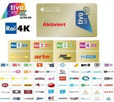 Original Tivusat Karte NEU Aktiviert SAT Hotbird 13°E RAI 4K HDTV Italienische