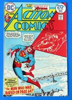 ACTION COMICS #433 COMIC BOOK ~ SUPERMAN ~ 1974 DC BROZE AGE  ~ NM+