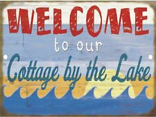 Retro Tin Signs Welcome to our Cottage Poster Metal Plate Wall Decor Plaque