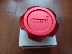 JDM STI RED aluminium OIL FILLER CAP SUBARU IMPREZA LEGACY WRX FORESTER GC8 GDB
