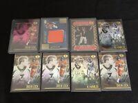 2020 Illusions Football Denver Broncos 8 Card Mini Lot! Hamler, Elway, Lock!