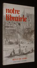 Notre librairie (n°75-76, juillet-octobre 1984) : Littérature malienne, au