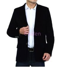 HOT Mens Dad's Corduroy Two Button Casual Blazers Jackets Coats pleuche Autumn