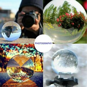 100mm Crystal Ball Clear Glass Photography Lens Healing Sphere Photo Prop Decor