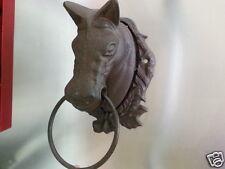 Cast Iron Antique Style Horse Head Door Knocker / Cottage Towel Ring Rustic