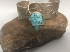 Museum quality Navajo Monty Claw Number 8 turquoise cuff.