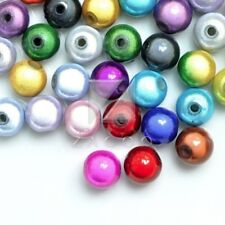 10/20/40/80/120pcs Acrylic Miracle Beads Round Jewellery 4/6/8/10/12mm Assorted
