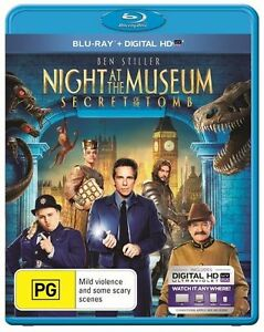 Night At The Museum 3 - Secret Of The Tomb (Blu-ray, 2015) Region B - NEW+SEALED