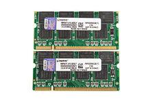 For Kingston 2X 1GB 1G DDR PC2700S 333MHZ 200Pin 2.5V SO-DIMM RAM Laptop Memory