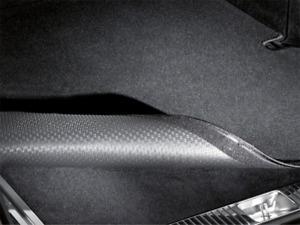 Wendematte mit Klettband für Ladekantenschutz schwarz A-Klasse Baureihe W177