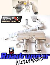 """MILLTEK GOLF R MK6 Turbo posteriore di scarico 3"""" RACE non rinunciando & Race Cat RES polacco"""