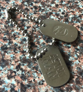 Action Man Silver Tone Dog Tags - 1990