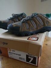 Hi Gear Para Hombre Para Caminar Zapatos De Senderismo Uk 7 Marrón Topo Verde Impermeable Nuevo Caja
