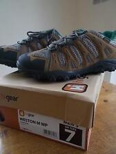 HI GEAR Mens Hiking Walking Trekking Shoes UK 7 Taupe Green Waterproof New Box