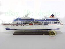 "COLUMBUS Model Ship Desk Display 35"" Length Ocean Liner Luxury Cruise Ship"