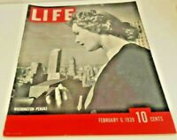 February 6, 1939 LIFE Magazine Historical 30s ads add Ad FREE SHIPPING Feb. 2 5