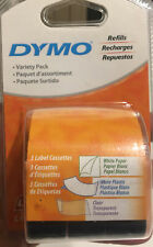 Dymo Letratag Variety Refills 1 Roll Ea White Paper 1 White Plastic 1 Clear