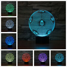 Real Madrid CF soccer 3Dillusion Night Light 7Color Changing LED Desk Table Lamp
