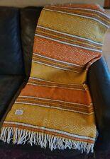 """Vintage Faribo Woolen Mill Co 100% Wool Woven Blanket 56"""" x 45"""""""