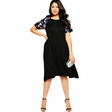 Knee Length Shirt Size Plus Dresses for Women