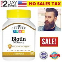 Facial Hair Growth Vitamins Beard Supplement Mustache Treatment Biotin Capsules