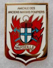 PINS ancien AMICALE BMPM BATAILLON MARINS POMPIERS MARSEILLE Marine ORIGINAL