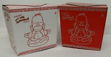 Kidrobot The Simpsons Homer Buddha 7 in. 2-Pack Original & Silver MINT SEALED